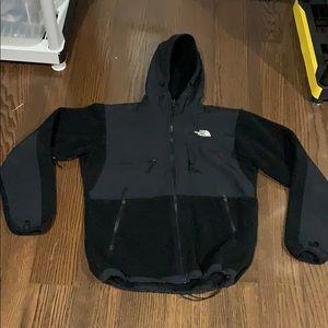 The North Face black Denali fleece hoodie jacket S